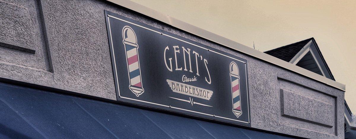 gent's classic barbershop menomonee falls wisconsin logo facsia sign