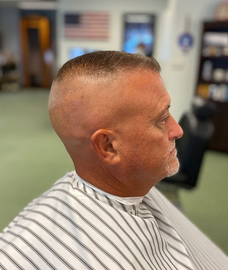 best mens army haircu flat top and straight razor barber for guys in milwaukee