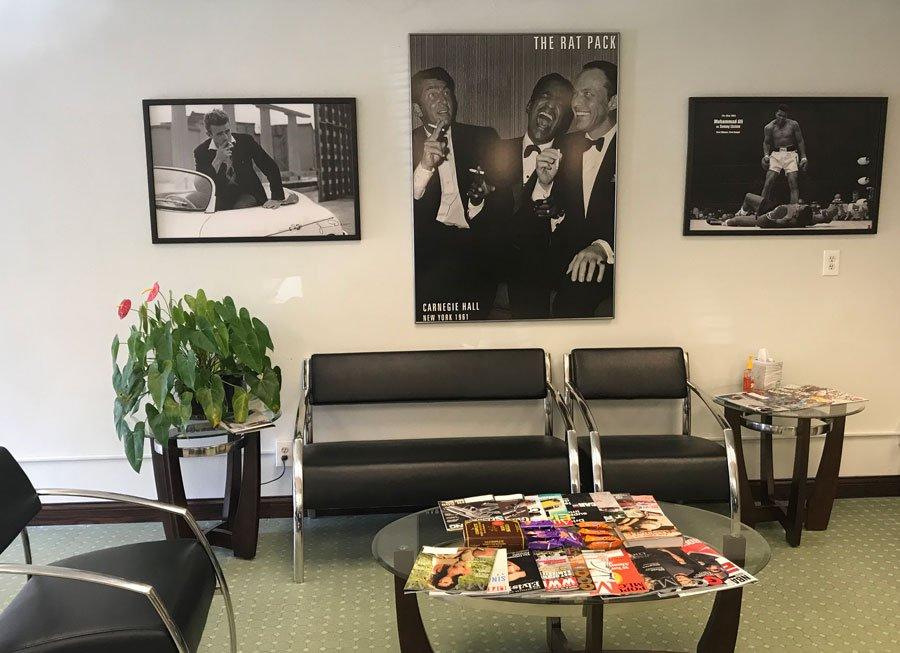 look inside gents barbershop waiting room appointments in menomonee falls