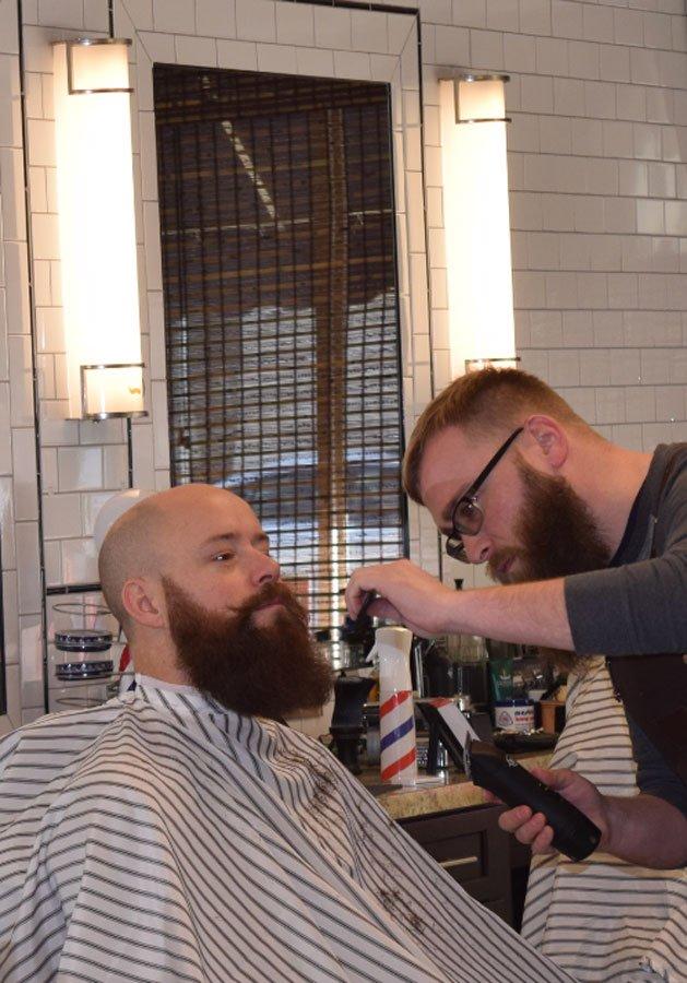 will cutting professional beard at gents barbershop in menomonee falls
